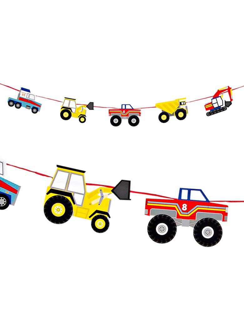 Meri Meri Big Rig Trucks Garland