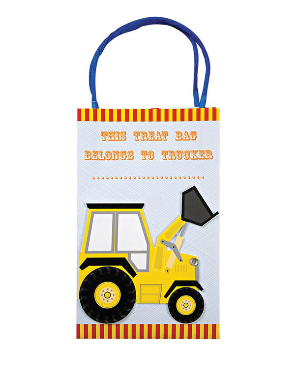Meri Meri Big Rig Construction Truck Party Goodie Bags 8ct