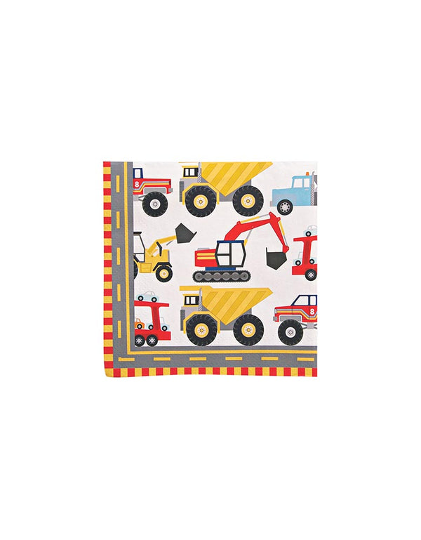 MeriMeri Big Rig Small Napkins with Trucks Print
