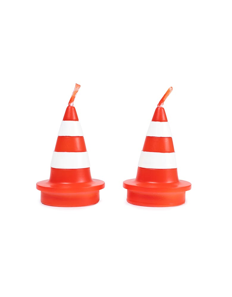 Traffic Cone Candle Set