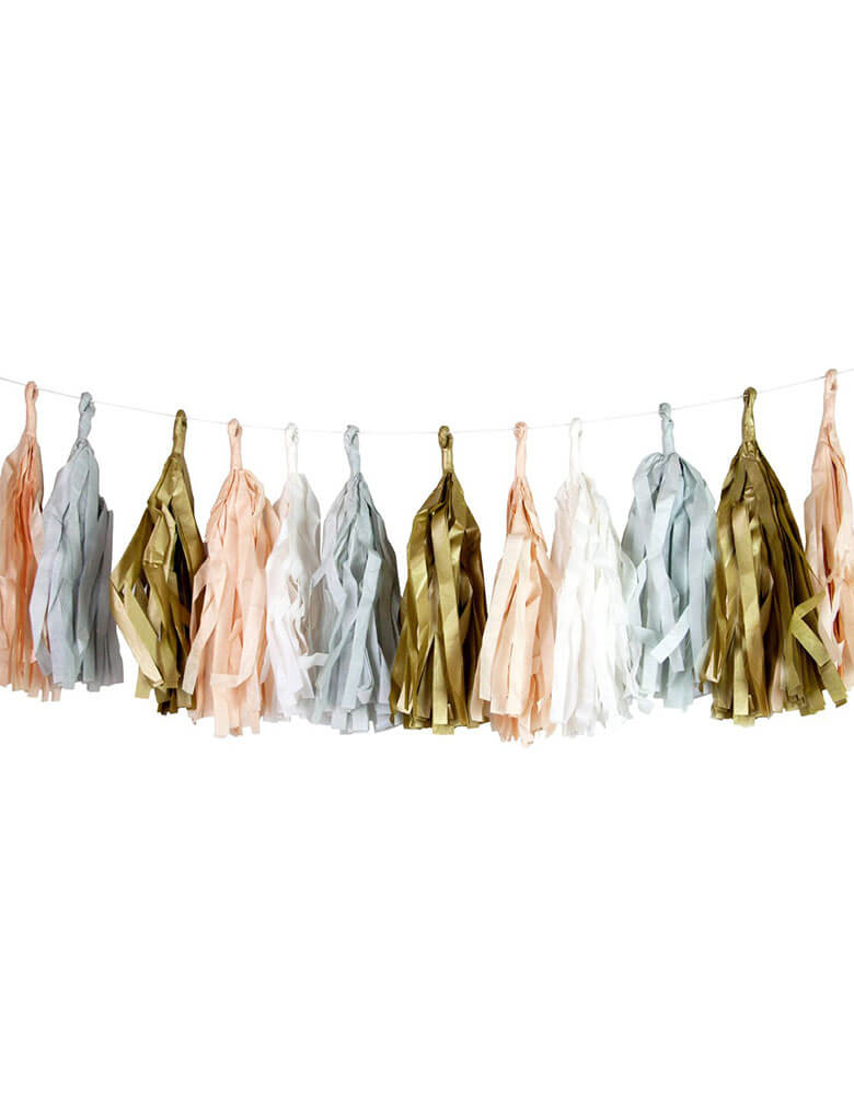 Talking Tables 10 ft Decadent Decs Blush Tassel Garland