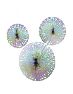 "Talking Tables Decadent Decs Iridescent Fans in 12"", 14"" and 19"""