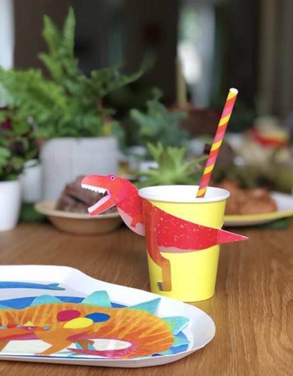 Talking Tables_Dino Cups with Wraps_Dinosaur Party Ideas for Kids