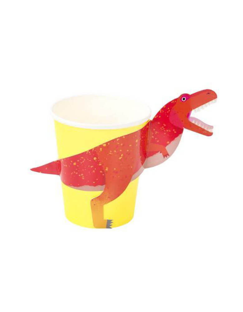 Talking Tables_Dino Cups with Wraps_Dinosaur Themed Party Supplies for Kids