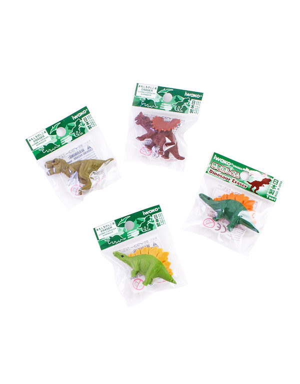 mini Dinosaur Erasers in each package
