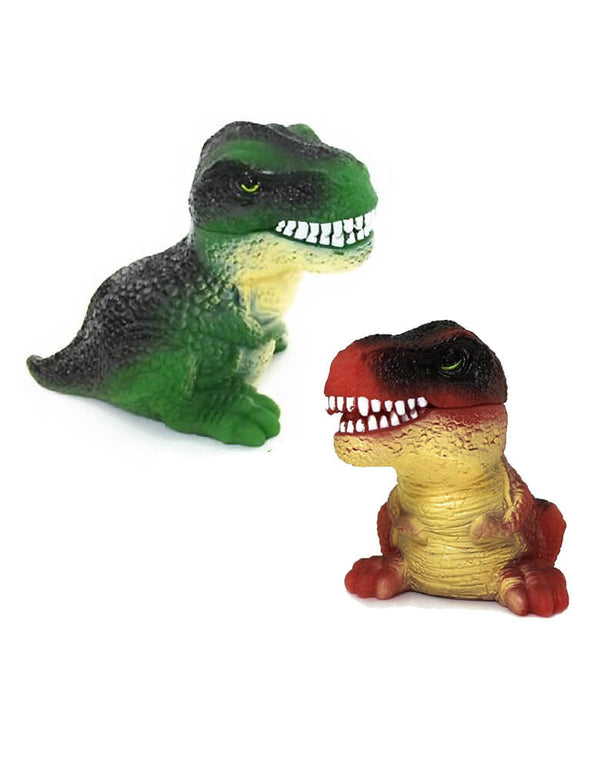 Schylling Squeeze & Roar Dino Bites Dinosaurs Toy in Green and Red color with Roar Sound