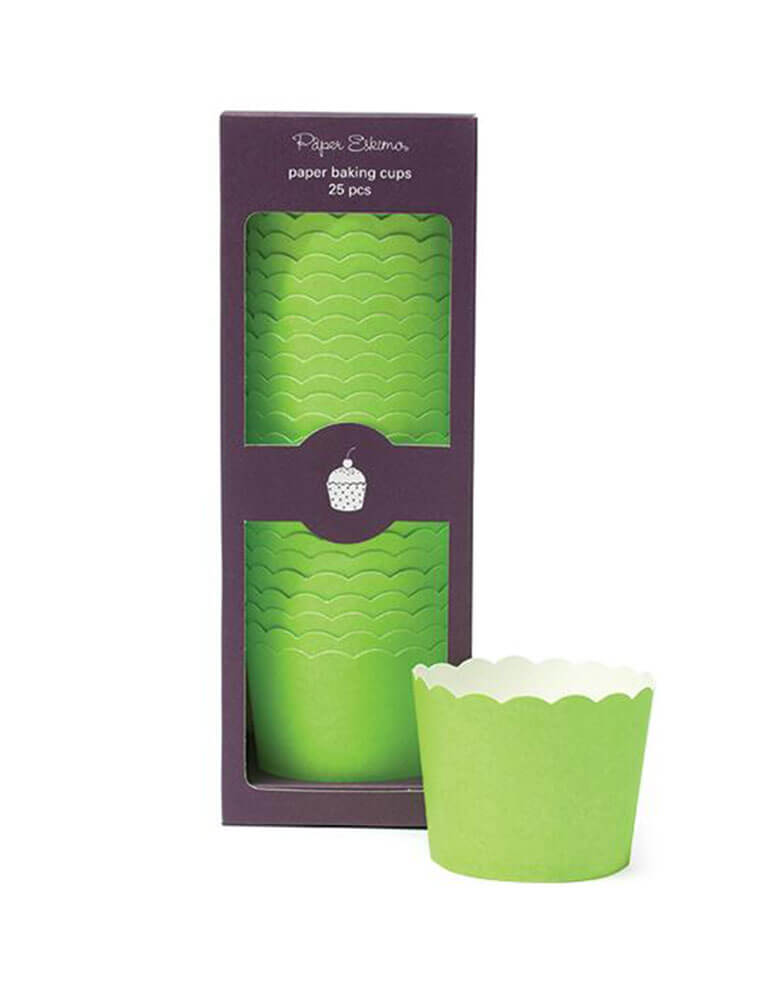 SOLID GREEN Cupcake-Baking-Cups_25PC