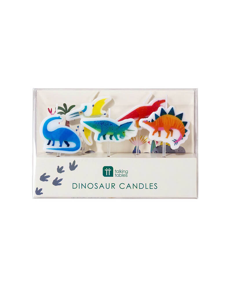 Dinosaur Birthday Candle Set with Package