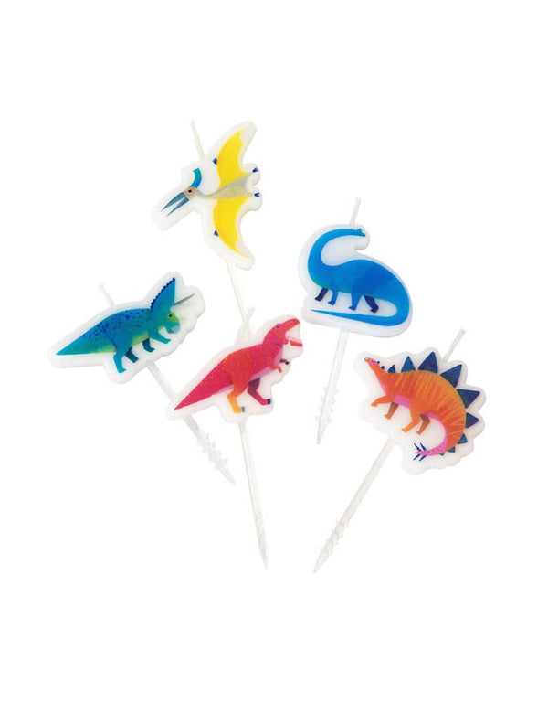 Dinosaur Birthday Candle Set
