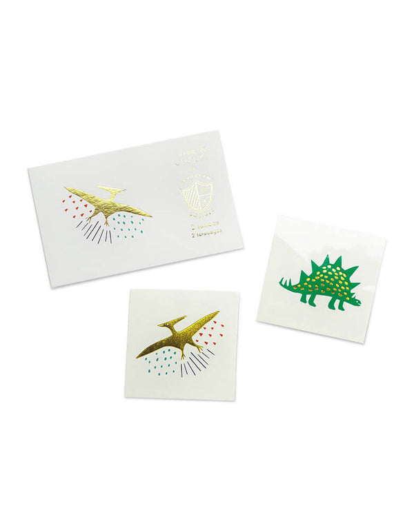 Dinosaur Temporary Tattoo Set