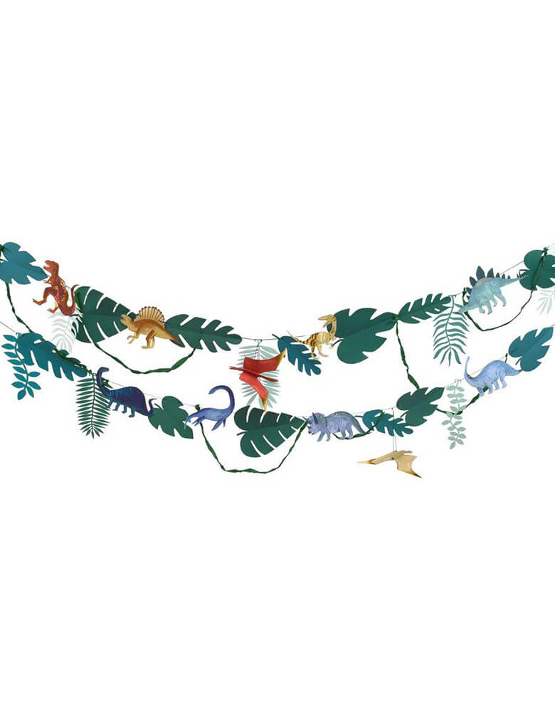 Meri Meri 10' Dinosaur Kingdom Large Garland perfect for setting the scene for a dinosaur themed party