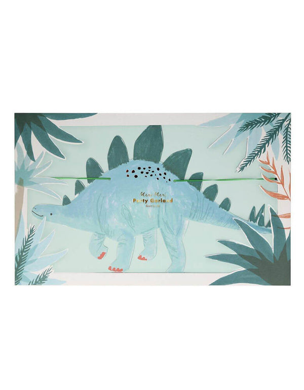 Meri Meri 10' Dinosaur Kingdom Large Garland in package