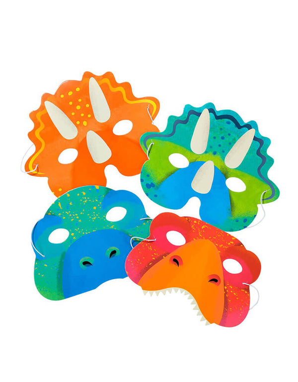 Talking Tables Party Dinosaur Paper Masks  Set of 8
