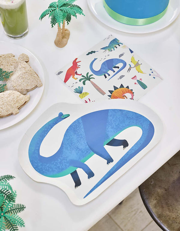Talking Tables_Dinosaur Shaped Plates_Kids Dinosaur Party Ideas