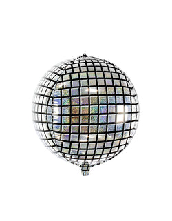 Party deco 16 inches Disco Ball Foil Mylar Balloon, Sassy and sparkly, these cool disco ball shaped foil balloons are perfect to add that disco fever into your hip hop parties