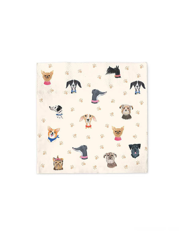Doggone Cute Large Napkins (Set of 40)