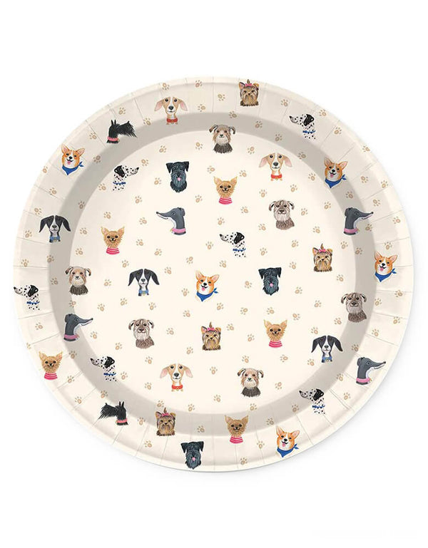 Doggone Cute Large Plates (Set of 16)