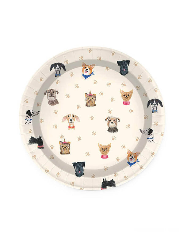 Doggone Cute Small Plates (Set of 16)