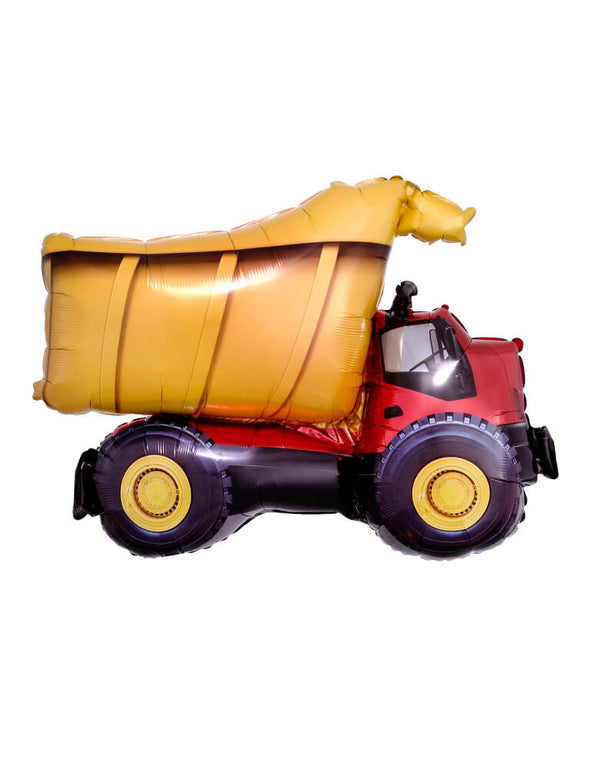 "Anagram balloons 32'-Dump Truck-Foil-Mylar-Balloon. Decorate the construction-themed party you're throwing for your little trucker with this awesome 32"" dump truck mylar balloon for Dig in party, Construction truck birthday party"