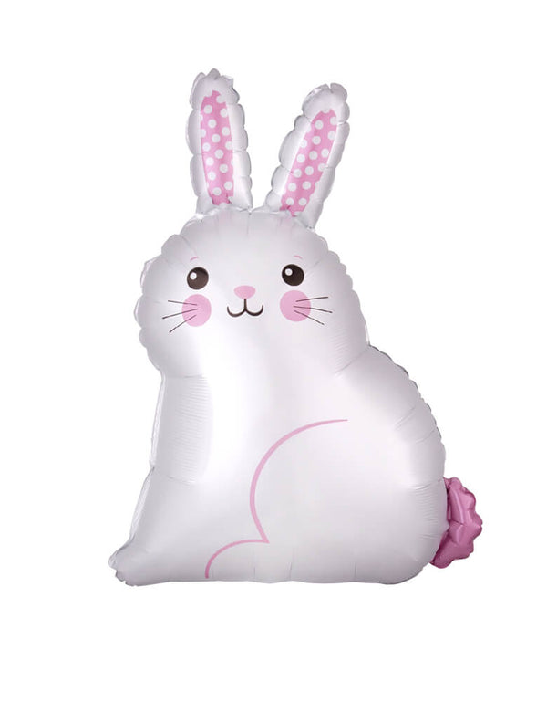 Anagram balloon - 22inch White Easter Bunny Satin Balloon. Hop into the holiday spirit with this bunny balloon. The Easter Bunny Balloon is shaped to resemble a rabbit sitting down. The inside of its ears is decorated with polka dots.