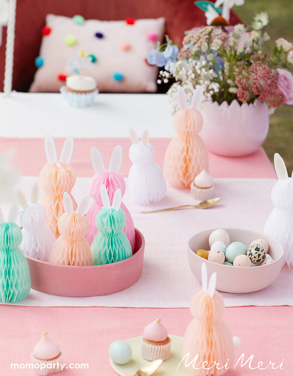 Honeycomb Spring Bunnies (Set of 8)