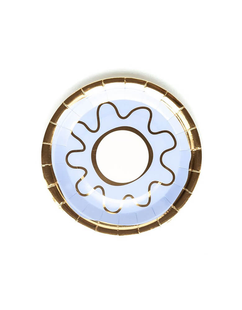 "My Minds Eye 7"" Bakery Donut Plate Blue"