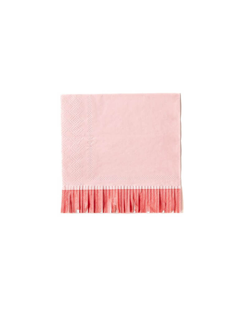 My Mind Eye Hip Hip Hooray Fringe Small Napkins in pink and red colors