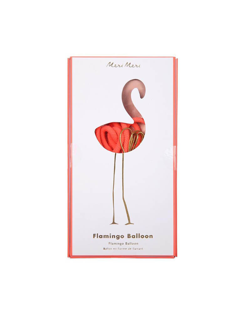 "Meri Meri 38"" Flamingo Foil Balloon in package"