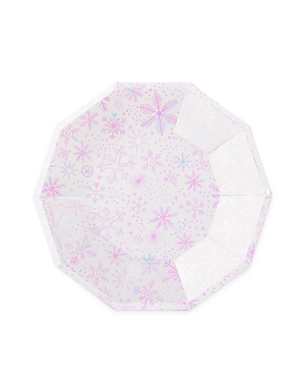 "Daydream Society 9.5"" Frosted Large Plates with iridescent elements"