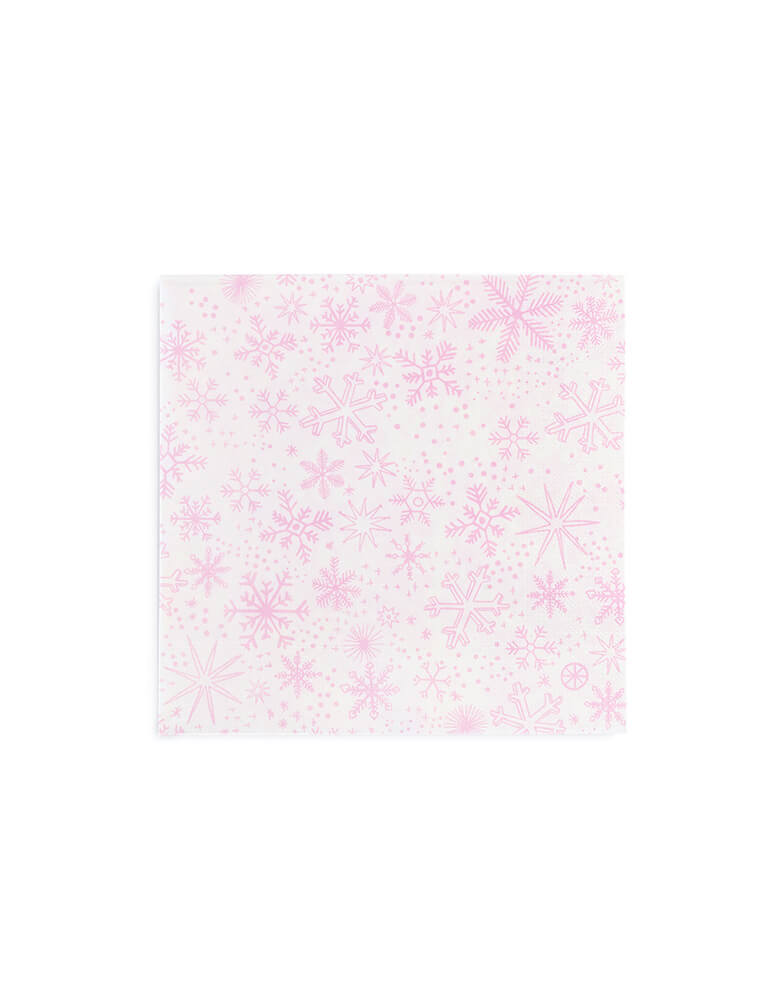 Daydream Society_Party Napkins with snowflake design from Frosted Collection_Set of 16
