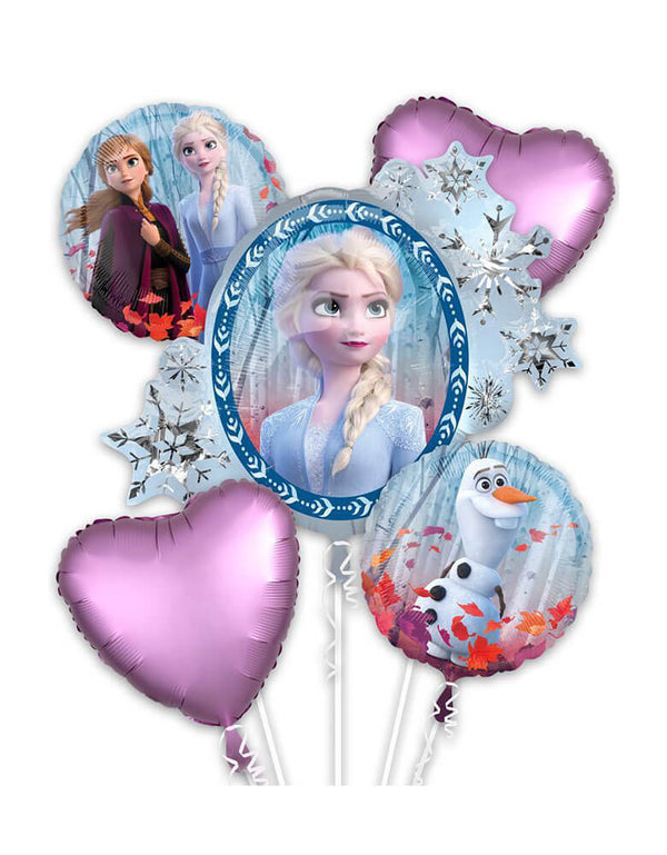 Frozen 2 Foil Balloon Bouquet with Elsa Ana and Olaf
