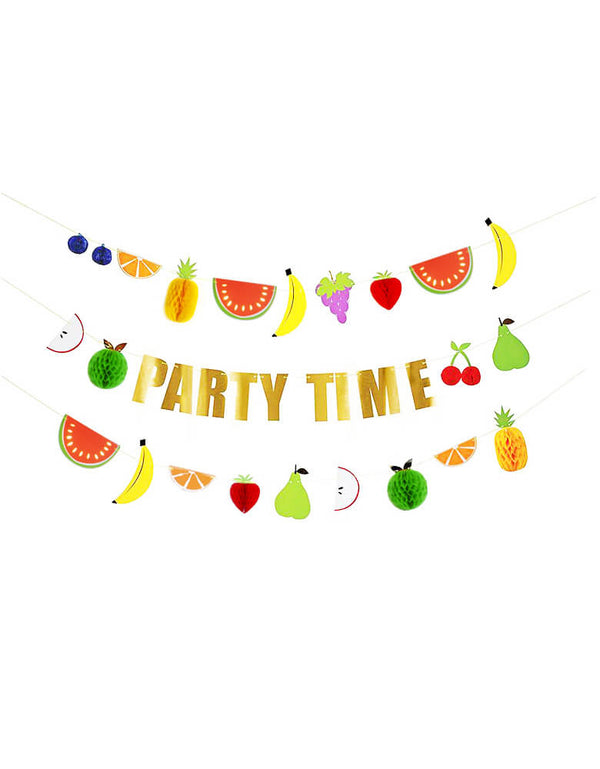 Meri Meri_Fruit Honeycomb Garland Set _for Summer Fruit Theme Birthday Party