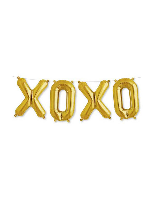 "Northstar 16"" XOXO Gold Foil Mylar Letter Ballon Set"