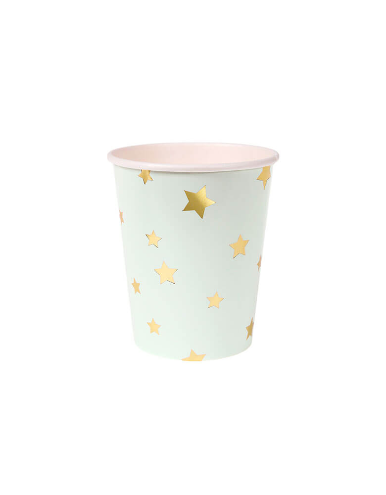 Meri Meri Jazzy Star Party Cups in Mint color