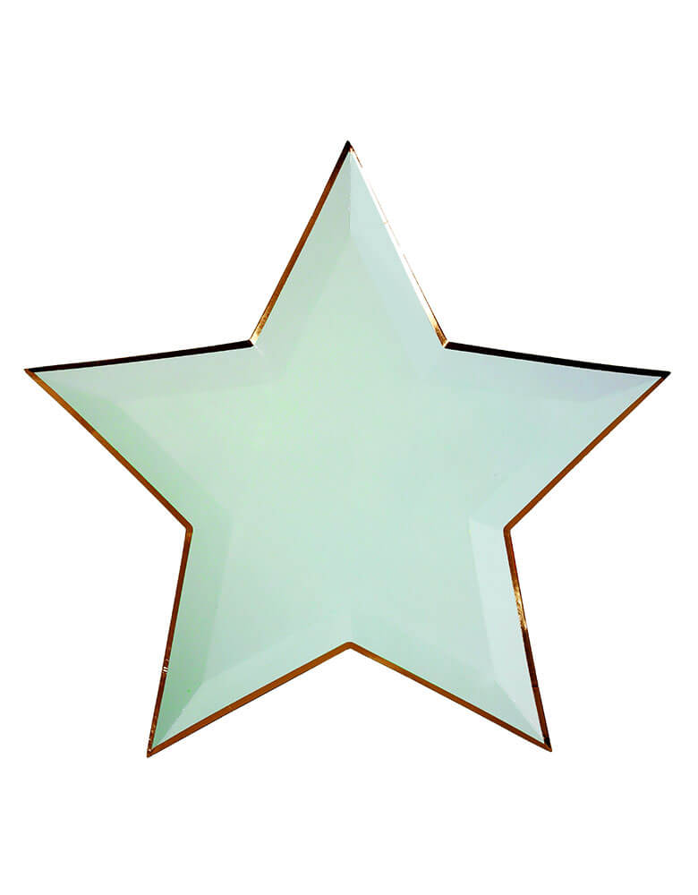 Meri Meri Jazzy Star Paper Party Plate in Mint