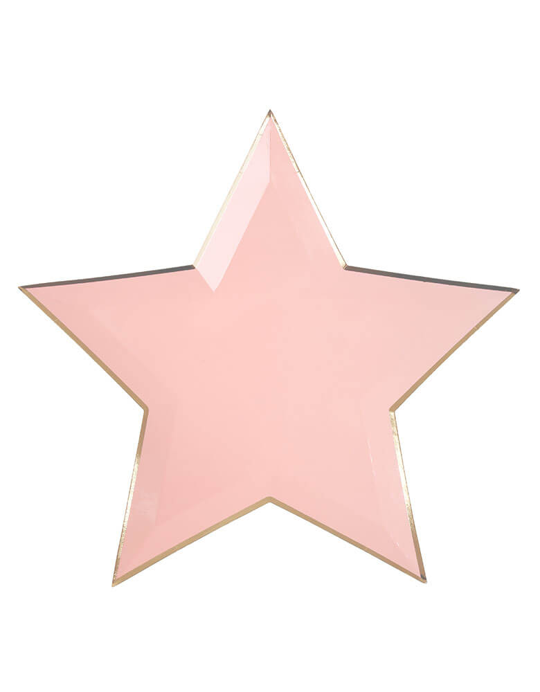 Pink Star Paper Plates