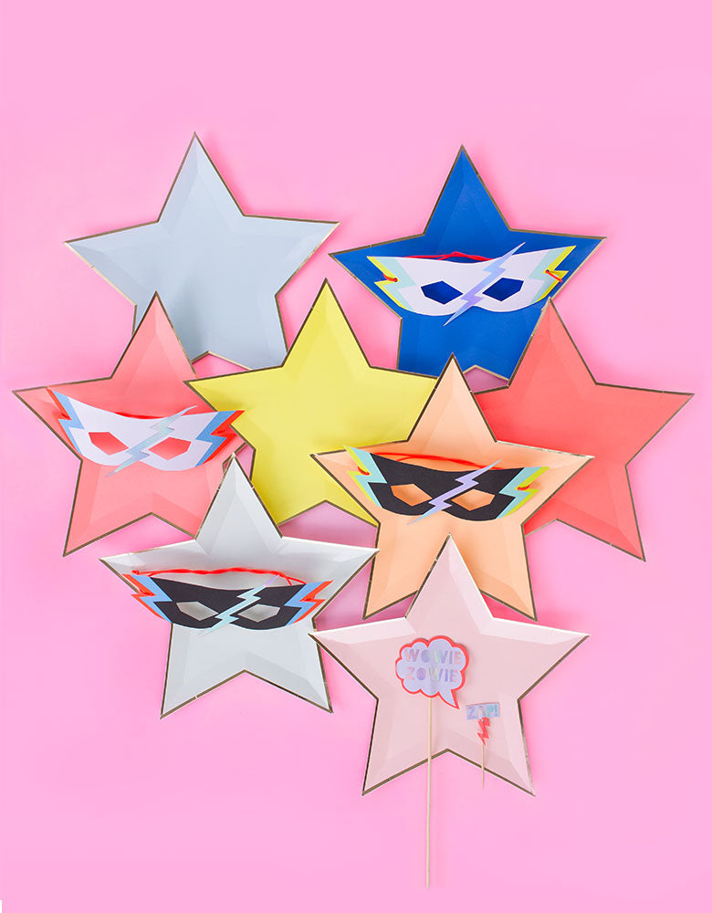 Jazzy Star Plates (Set of 8)