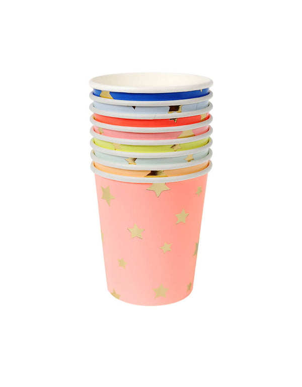 Meri Meri Jazzy Star Party Cups Set