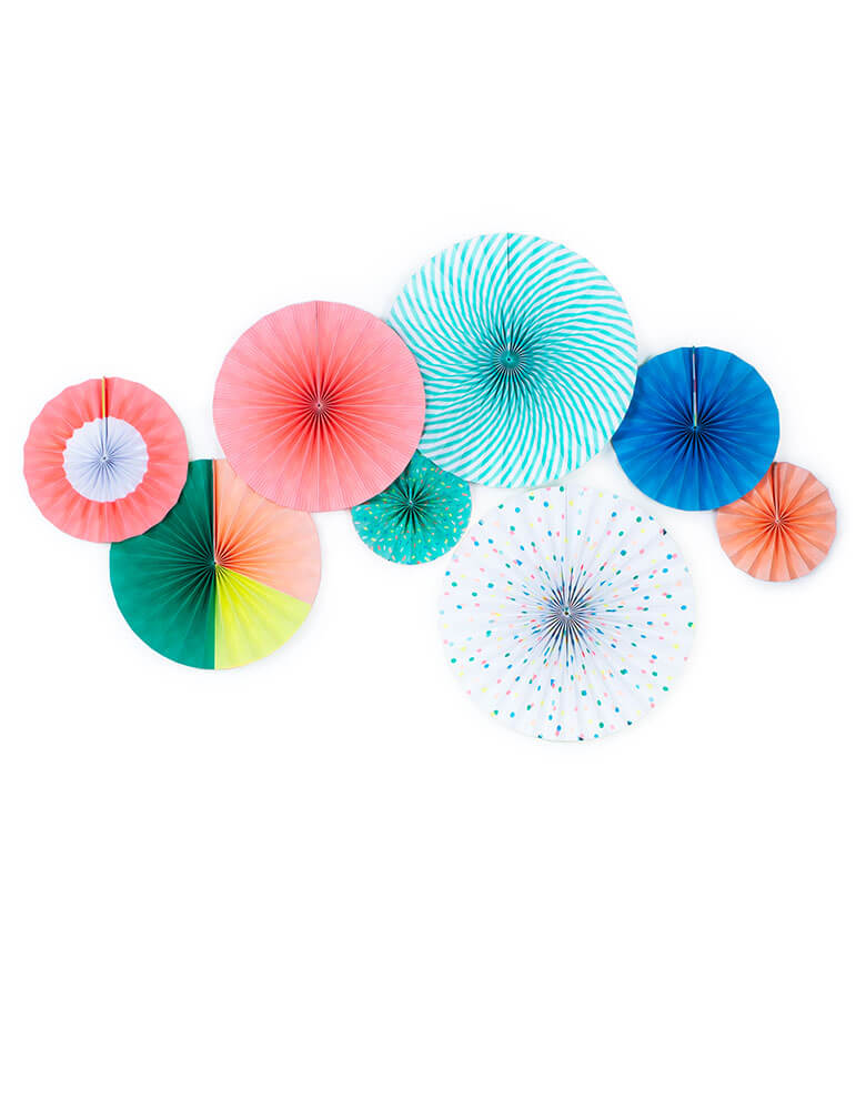 My Minds Eye Neon color Paper Fans