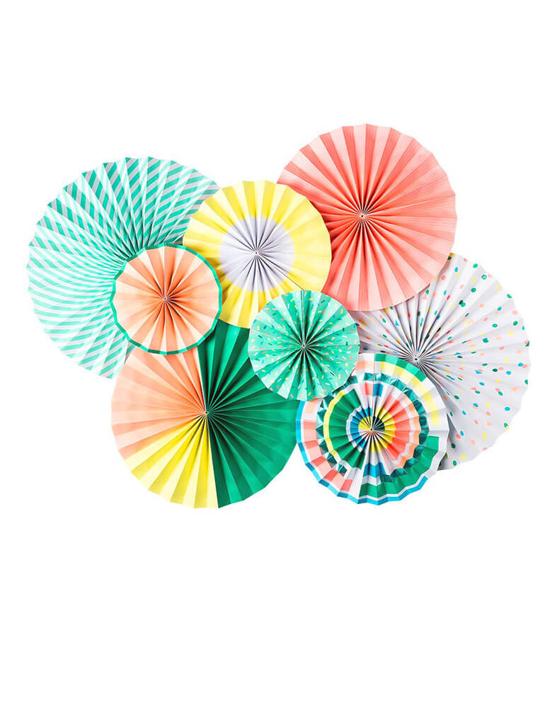 My Minds Eye Neon Paper Fans