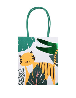 Meri Meri Get Wild Party Bags with Tiger and Alligator design