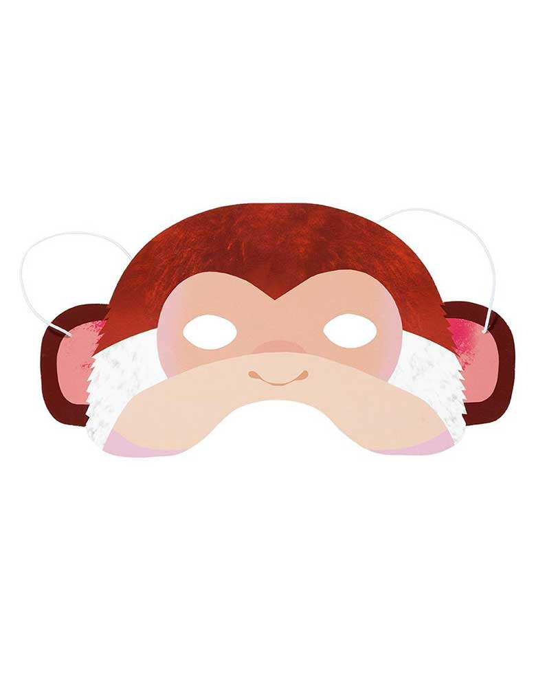 Monkey Party Animals Paper Mask for Kids