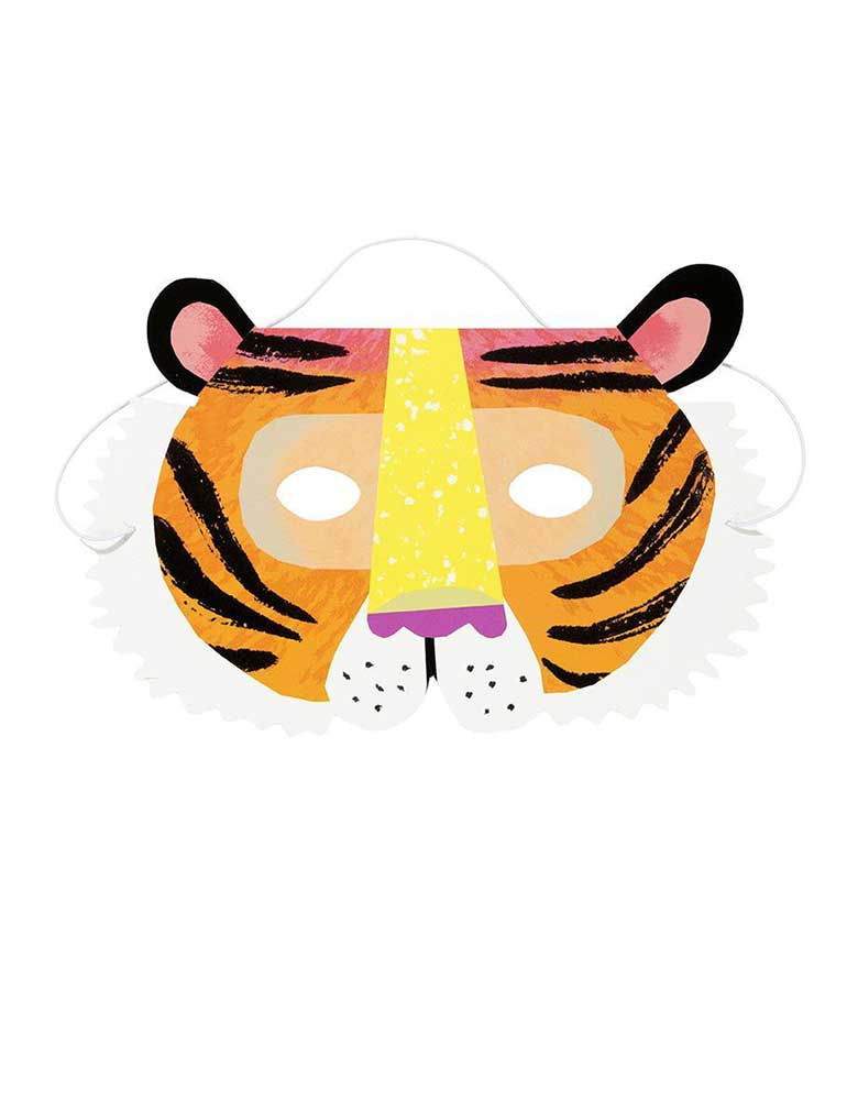 Party Animals Tiger Paper Mask for Kids