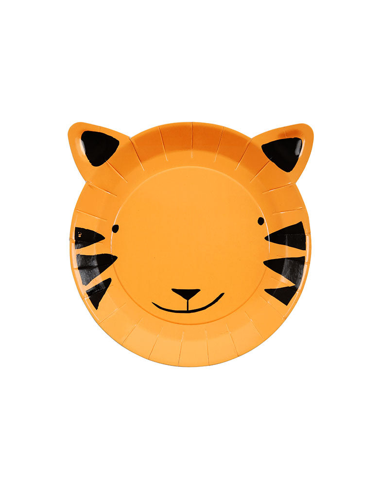 Party in a box of tiger paper plate for kids safari theme fun birthday ideas, great party ideas for 1 year birthday