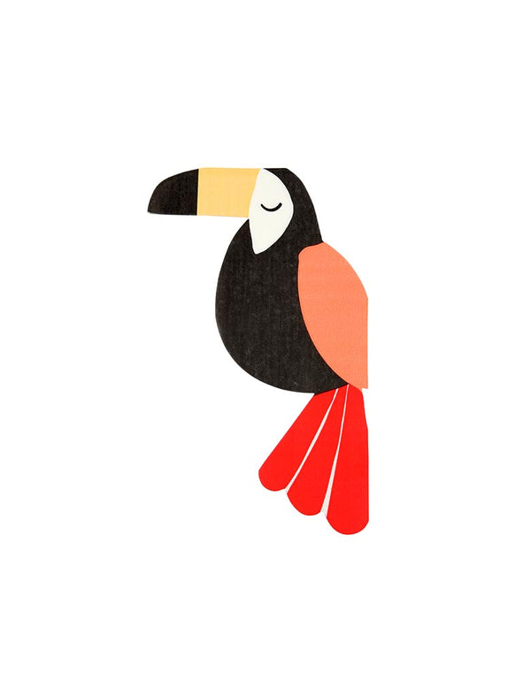 Toucan designed bird and animal paper napkin