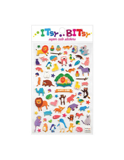 Ooly Itsy Bitsy Stickers - Happy Zoo. Super cute sticker sheet to have lots of small stickers to stick them on papers, journals, your cell phone. prefect school accessories or party favor for a animal themed birthday party