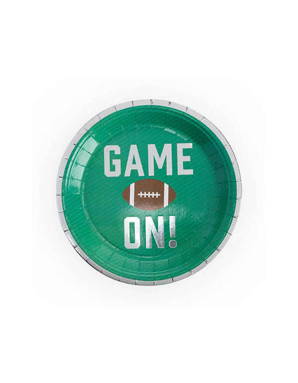 "Cakewalk 7"" Game On Football Party Appetizer Plates"