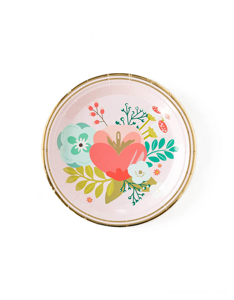 My Mind's Eye Garden Party Floral Plates