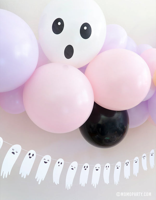 Ghost Face Printed Latex Balloon Mix (Set of 6)