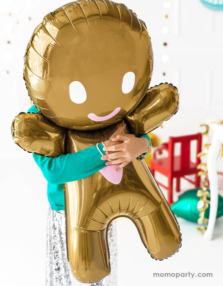 Lovely Gingerbread Man Foil Mylar Balloon